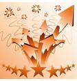 Orange fireworks arrows vector image