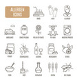 allergen icons set of pictogram vector image