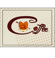 banner with coffee vector image