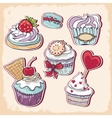 cakes vector image