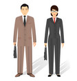couple of business asian man and woman business vector image