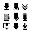 Download icon button vector image