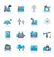 energy produsing industry and resources icons vector image