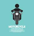Man Riding A Motorcycles Symbol vector image