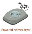 powered helmet icon isometric 3d style vector image