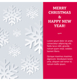 Snowflake NewYear Card vector image