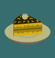 sweet dessert in flat design berry pie on a plate vector image