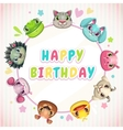 Cute childish Birthday card template vector image
