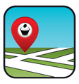 Street map icon with the pointer confectionery vector image