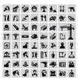 construction icons vector image vector image