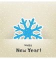 Christmas card and snow vector image vector image