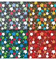 Set of four floral seamless pattern vector image vector image