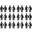 Couple people icons vector image vector image