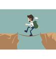 Business man go to risk vector image vector image