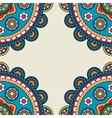 Indian rossetes doodle hippie frame vector image