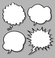 comical bubble speech vector image