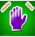 Hand print icon sign Symbol chic colored sticky vector image