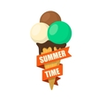 Ice cream dessert and text vector image