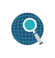 planet sphere with business icon vector image