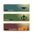 Website spooky header or banner set with Halloween vector image