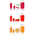 cherry tomato and orange juice vector image vector image