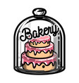 color vintage bakery emblem vector image