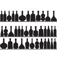 Bottles on shelves vector image vector image