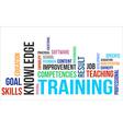 word cloud training vector image