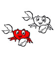 smiling crab vector image