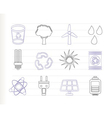 energy and nature icons vector image vector image