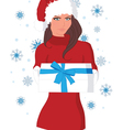 new year girl vector image vector image