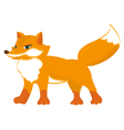 cute red fox vector image vector image