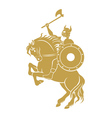 Viking on the horse vector image vector image