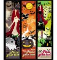 halloween grunge banners vector image