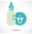 baby pacifier bottle icon vector image