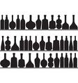Bottles on shelves vector image