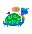 Cartoon ghost turtle flat mascot icon vector image