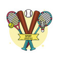 colorful poster of sport lifestyle with baseball vector image