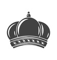 Crown Black icon logo element flat isolated on vector image