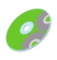 Data disc icon cartoon style vector image
