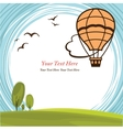 Frame with hot air balloon vector image