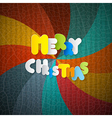 Merry Christmas Paper Title on Retro Background vector image