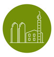natural gas plant icon in thin line style vector image