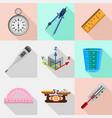 Precise laboratory instruments icons set vector image