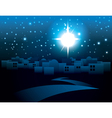 Starry Night Bethlehem Religious Christmas Theme vector image