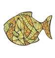 Stylized colored fish vector image