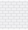 White brick seamless pattern vector image