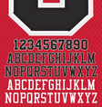 Stitched Sports Numbers and Letters vector image
