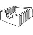 File box or case icon vector image