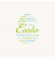 Easter typography background vector image vector image
